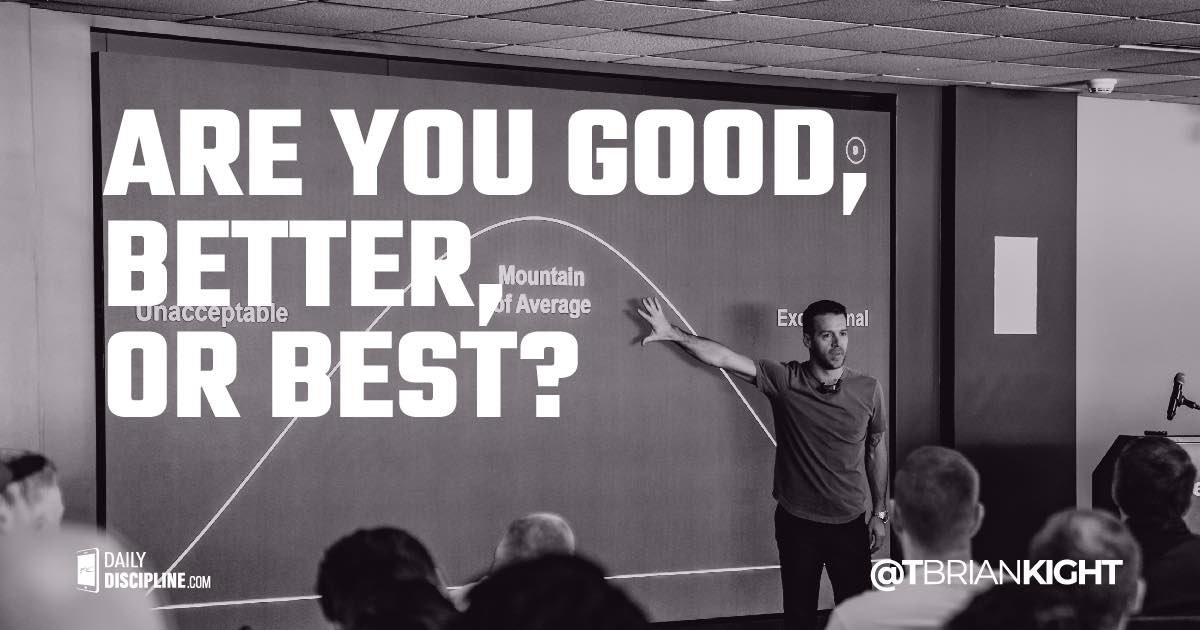 Are you good, better, or best?