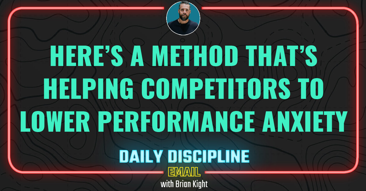 Here's a Method That's Helping Competitors to Lower Performance Anxiety