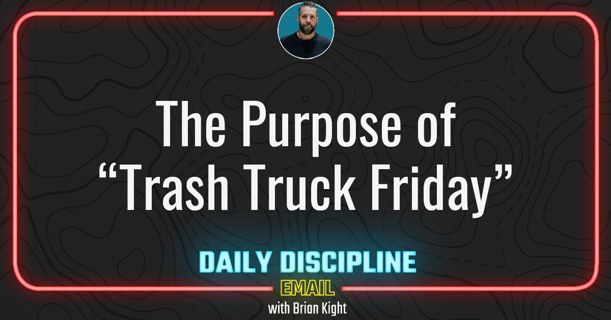 """The Purpose of """"Trash Truck Friday"""""""