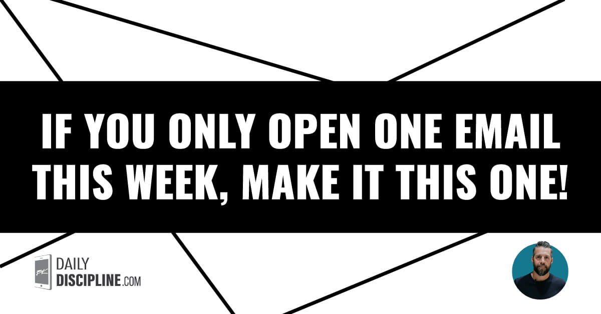 If you only open one email this week, make it this one!