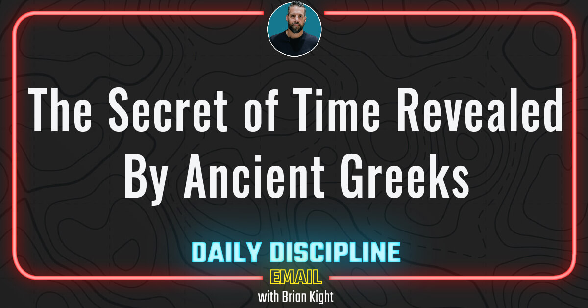 The Secret of Time Revealed By Ancient Greeks.