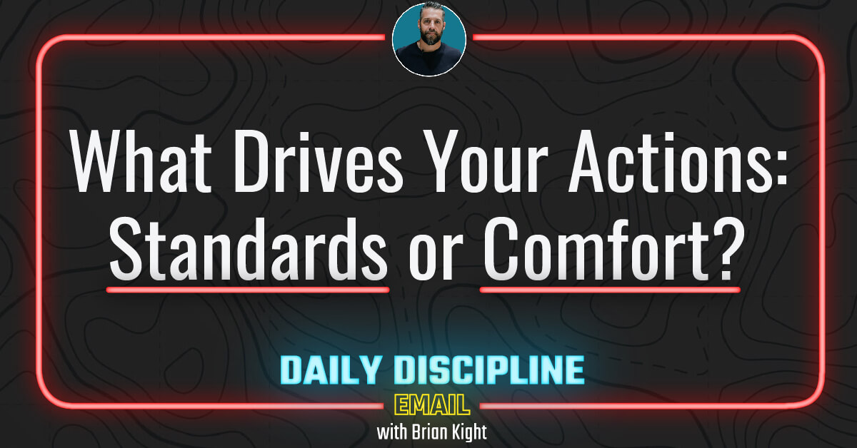 What Drives Your Actions: Standards or Comfort?