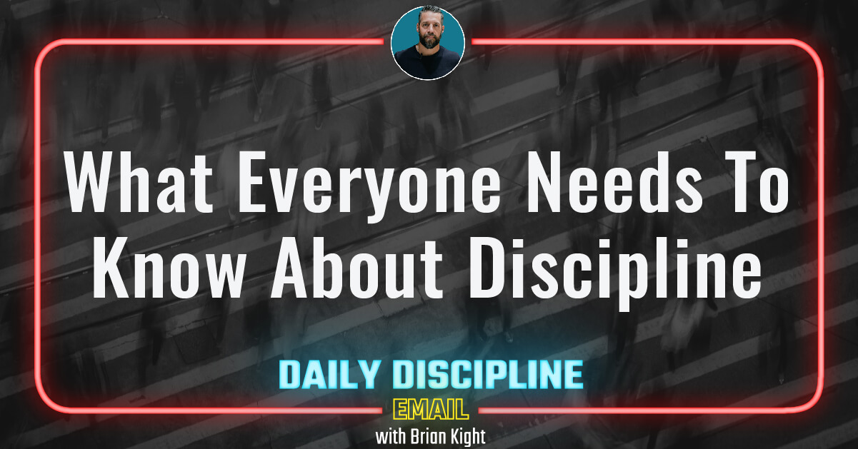 What Everyone Needs To Know About Discipline